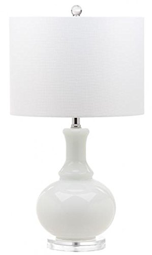 Safavieh Lighting Collection Franny White 27.75-inch Table Lamp (Set of 2)