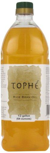 Tophe Pure Rice Bran Oil, 1/2 Gallon