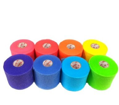 Mueller Rainbow Pack of Sports Pre-Wrap (8 colors!),30 Yards,Rainbow (Colored Tape Athletic)