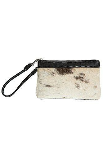 Overland Lanie Cowhide Wristlet Clutch Wallet (Sheepskin Womens Wallet)