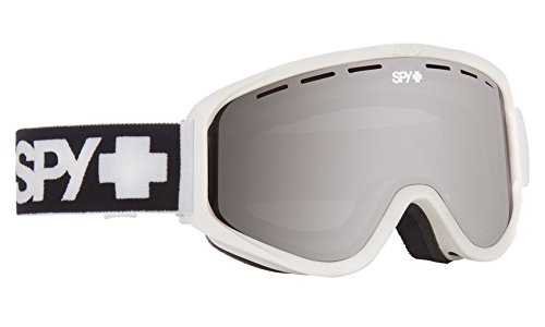 Spy Optic Woot Snow Goggles, One Size (Matte White Frame/Silver Mirror + Persimmon - Electric Goggles Polarized
