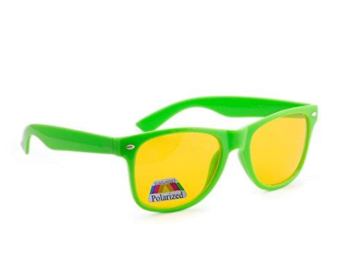 jaune marron de de unisexe soleil lentilles nuit Correction protection écaille femmes uV400 Night lunettes hommes soleil Green Polarized 4sold driving lunettes füllend entièrement FYxq7wtw