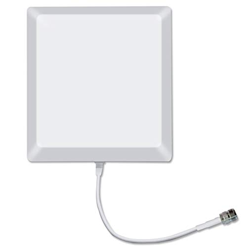 Sanqino 2G/3G/4G Directional Internal Panel Antenna Wall Mount for Cell Phone Booster 800-2500MHz 9dBi ()