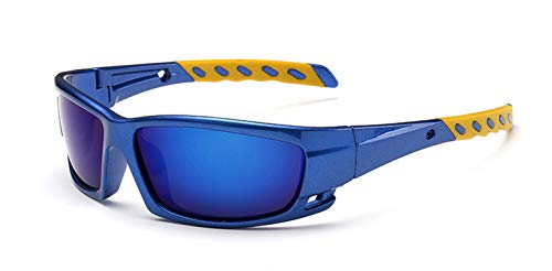 Men Women Windproof Polarized Cycling Glasses Bicycle MTB Bike Goggles Outdoor Sports Fishing Sunglasses,Blue
