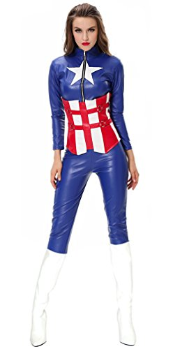 Charmian Women's Adult Marvel Captain American Dream Superhero Costume