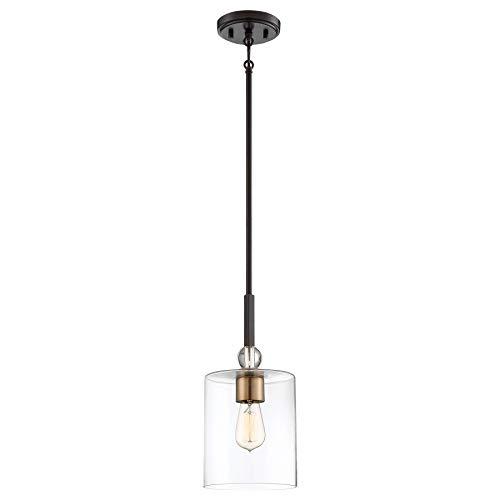 Minka Lavery Mini Pendant Ceiling Lighting 3089-416 Studio 5, 1-Light 60 Watts, Painted Bronze