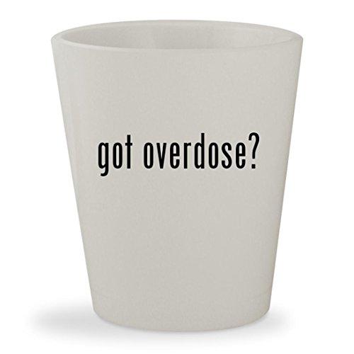 Gungrave Hat - got overdose? - White Ceramic 1.5oz Shot Glass