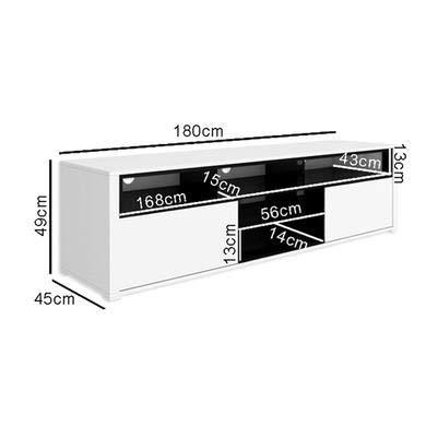 Evoque White High Gloss TV Unit With Soundbar Shelf