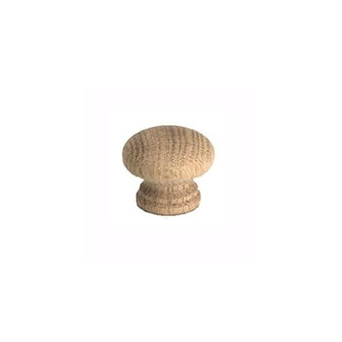 Berenson Appalachia Mushroom Cabinet Knob 1-5//16 Diameter Unlacquered Oak