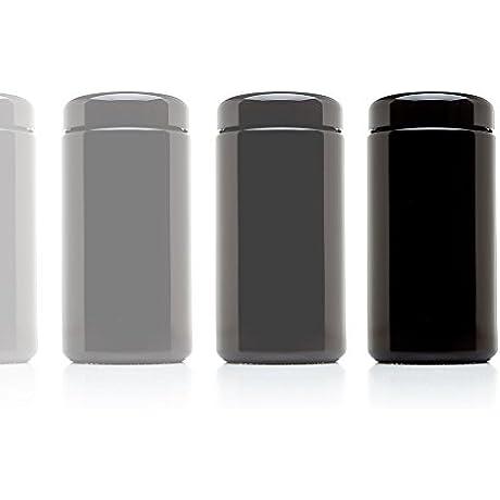 Infinity Jars 500 Ml 17 Fl Oz 10 Pack Tall Large Black Ultraviolet Glass Wide Mouth Screw Top Jar