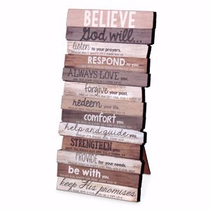Lighthouse Christian Products 5 X 10 X 1 Believe Wall Art Plaque