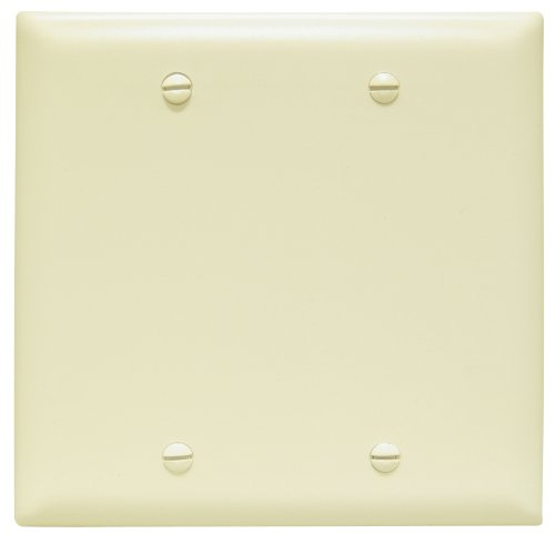 (Legrand - Pass & Seymour TP23ICC12 Trade Master Nylon Blank Wall Plate - Box Mounted, Two Gang,  Easy Install,)