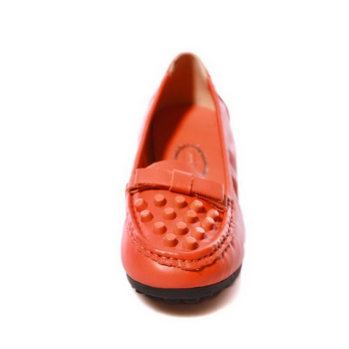 Bows Toe Heel Womans Material Round Pumps Orange with UK Solid Tommy Closed Soft Hilfiger VogueZone009 5 5 Low dXwOqxXt