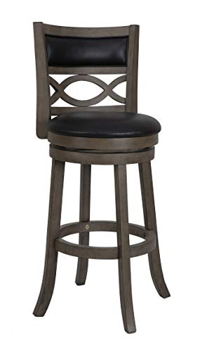 Antique Black Bar Stools (New Classic S1128-BS-PG Manchester Swivel Bar Stool, Black, 29-Inch Antique Grey)