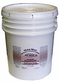 Rust Bullet MB5G Clear Metal Blast, Metal Cleaner, Rust Dissolver and Rust Remover, 5 gal Plastic Pail