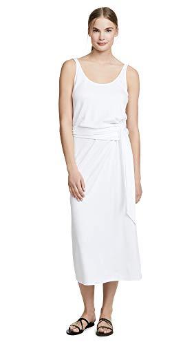 (Vince Women's Sleeveless Wrap Dress, Off White, Medium)