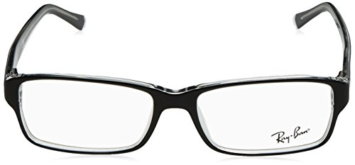 RB 5169 Ban 2034 Plastic Crystal Black Noir lunettes New Ray Frame RX IqZnEw