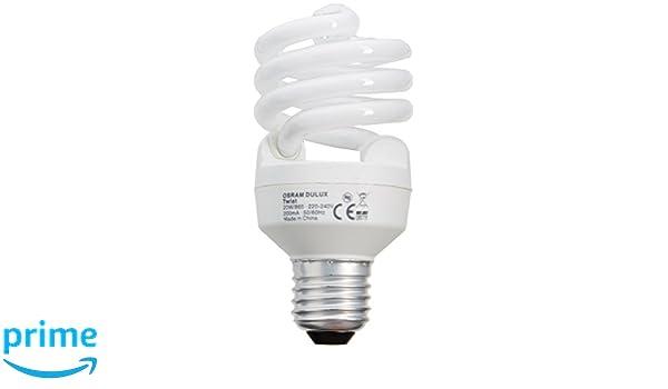 Osram Bombilla de bajo consumo de forma espiral E27, 20 W: Amazon.es: Iluminación