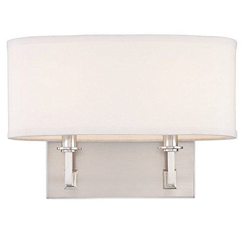 (Hudson Valley Lighting 592-SN Two Light Wall Sconce from the Grayson collection 2, Satin Nickel)