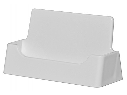 Marketing Holders Single Pocket Acrylic Business Card Holder for Table, Wholesale White Qty 10