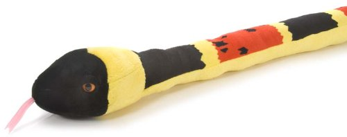 (Wild Republic Snake Plush, Stuffed Animal, Plush Toy, Gifts for Kids, Coral, 54 inches)