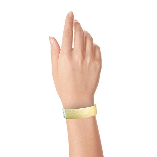 "Gold 3/4"" Tyvek Wristbands - 500 Pack Paper Wristbands For Events Photo #3"