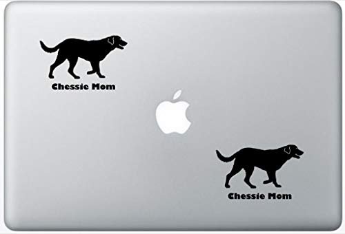 (Chessie Mom - Chesapeake Bay Retriever Decal PetsAffectionLaptop0121 Set of Two (2X), Dog Decal, Sticker, Laptop, Ipad, MacBook)