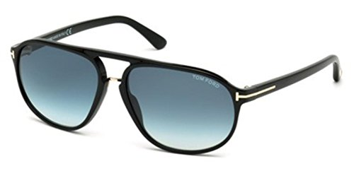 Tom Ford FT0447-F Sunglasses 61 01P Shiny Black Gradient - Jacob Tom Sunglasses Ford