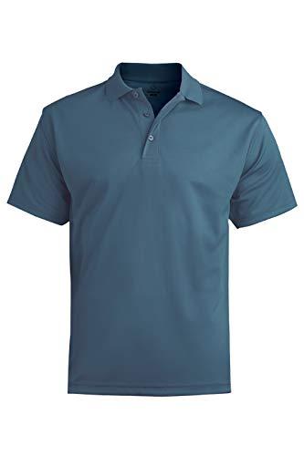 Edwards Men's Hi Performance Mesh Polo Medium Slate Blue
