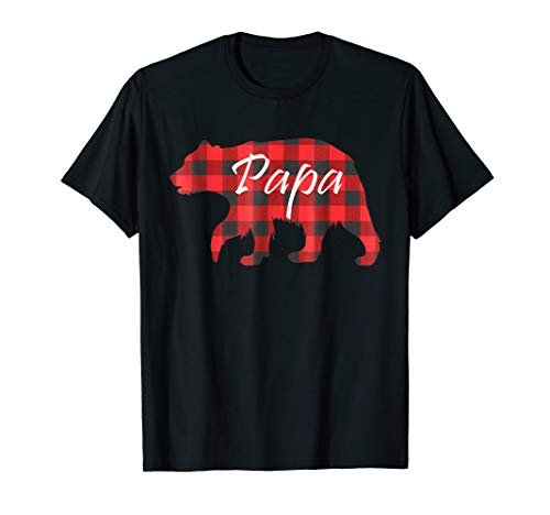 Papa Bear Buffalo Plaid-Christmas Gift For Father