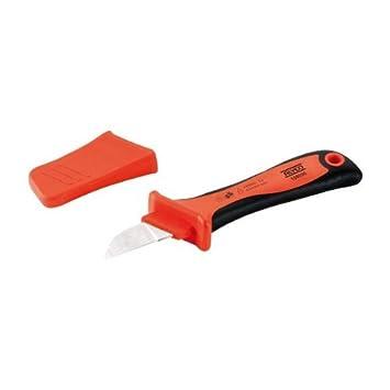Alyco 108090 - Cuchillo aislado para electricistas VDE 200 mm con funda: Amazon.es: Bricolaje y herramientas