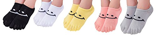 TESOON Woemns Cartoon Pattern Toe Socks 3 Pairs