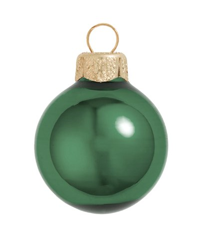 Amazon Com Whitehurst 40ct Shiny Emerald Green Glass Ball