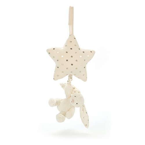 Jellycat Bashful Twinkle Bunny Musical Pull Baby Toy, 12 inches