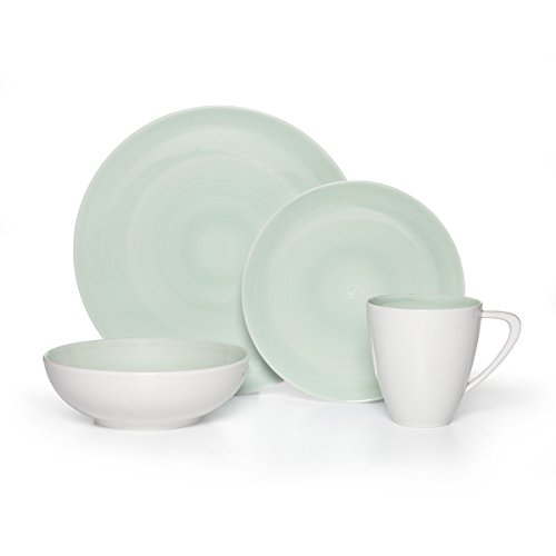 Mikasa Savona Teal 4-Piece Place Setting, Service for 1 (Salad Green Teal Plate)