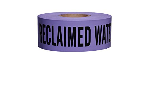 Non-Detectable Underground Tape (3'' x 1000' (8 Roll/Case), Caution Buried Reclaimed Water Line Below (Purple))