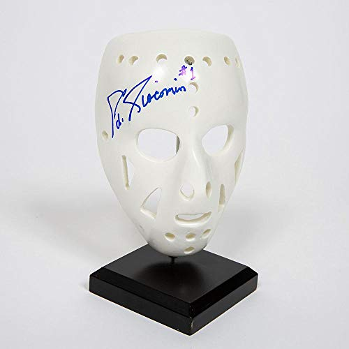 - Ed Giacomen New York Rangers Autographed Mini Replica Goalie Mask - Autographed NHL Helmets and Masks