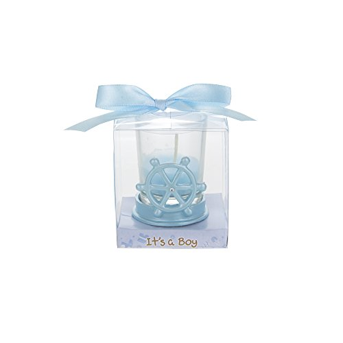- Mega Favors 12 pcs Party Keepsake Baby Blue Sail Boat Wheel Candle Set | Awesome Party Favors For Baby Shower Announcement Parties, Boys Or Girls Party & Other Themed Events