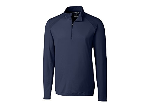 Cutter & Buck Mesh Pullover - Cutter & Buck Men's Moisture Wicking, 50+ UPF Williams Half Zip Pullover, Liberty Navy Large