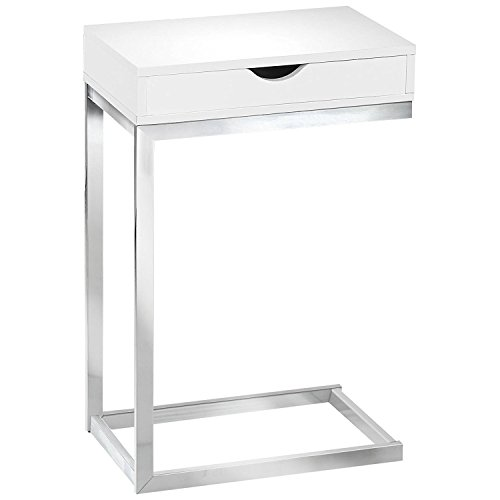 Indoor Multi-Function Accent Table Study Computer Home Office Desk Bedroom Living Room Modern Style End Table Sofa Side Table Coffee Table White accent table