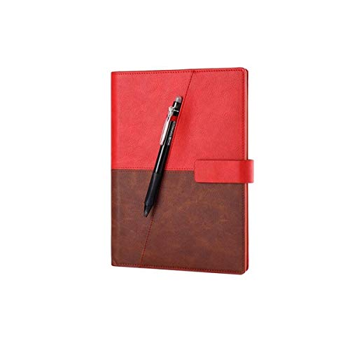 ZHONGYUE Deluxe Edition Smart Repeatable Write App Backup Notebook, New Year Creative Gift, Annual Meeting Business Notepad, A5/70 Pages, Brown, Red, Blue, Black Latest Models (Color : Red)