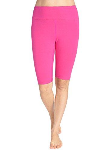 Pink Long Shorts - Weintee Women's Cotton Spandex Yoga Shorts Workout Gym Shorts M Rose