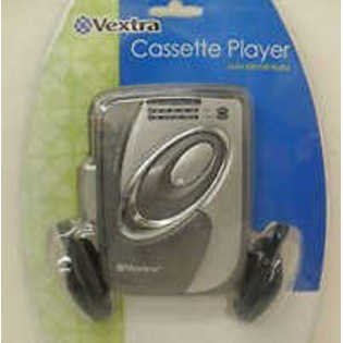 Vextra Cassette Player with Am/fm Radio with Headphones
