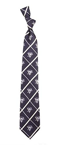 Pittsburgh Penguins NHL Silver Line Woven Silk Neck Tie Eagles Wings