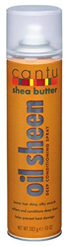 Cantu Shea Butter Oil Sheen Deep Conditioning Spray 10 Ounce (295ml) (2 Pack)