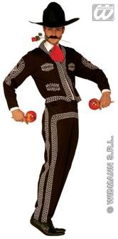 Mens Mariachi Man Costume Extra Large Uk 46