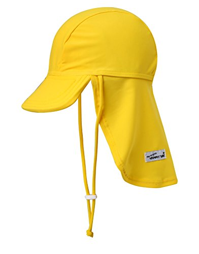 Vaenait baby Infant & Kids Boys Sun Protection Sporty Flap Swim hat UV Flap Cap Yellow L