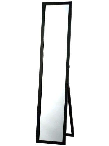 鏡面仕上げ スタンドミラー ブラック  全身 幅33cm x 高さ150cm 飛散防止 B00SR4IHH4ブラック