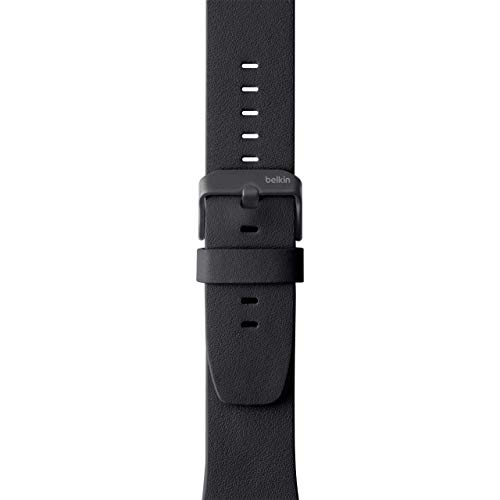Belkin F8W731btC00 Classic Leather Band for Apple Watch Series 4, 3, 2, 1, /40 mm, Black, 38 mm Pack ()