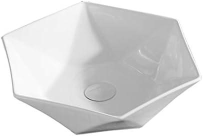 WJ 洗面台 バスルームの洗面台、(タップ無し)カウンタ流域技術の単一流域上記セラミック化粧ホームシンク、63X42X15cm /-/ (Size : 48X45X12.5cm)